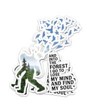 bigfoot into forest sticker Sticker - 6 pack (Vertical) front