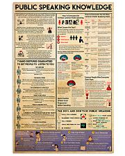 public speaking knowledge 24x36 Poster front