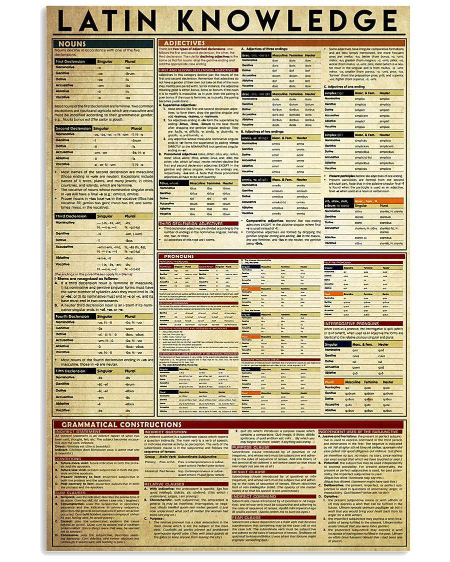 latin-knowledge-grammar 11x17 Poster