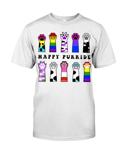 happy purride paw cat lgbt