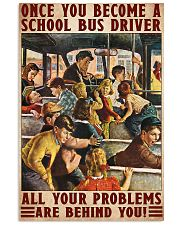 bus driver problem behind you poster 11x17 Poster front