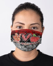 lunch lady peace love lunch mas Cloth Face Mask - 3 Pack aos-face-mask-lifestyle-01