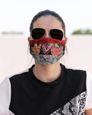 lunch lady peace love lunch mas Cloth Face Mask - 3 Pack aos-face-mask-lifestyle-02