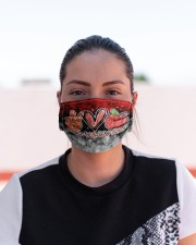 lunch lady peace love lunch mas Cloth Face Mask - 3 Pack aos-face-mask-lifestyle-03
