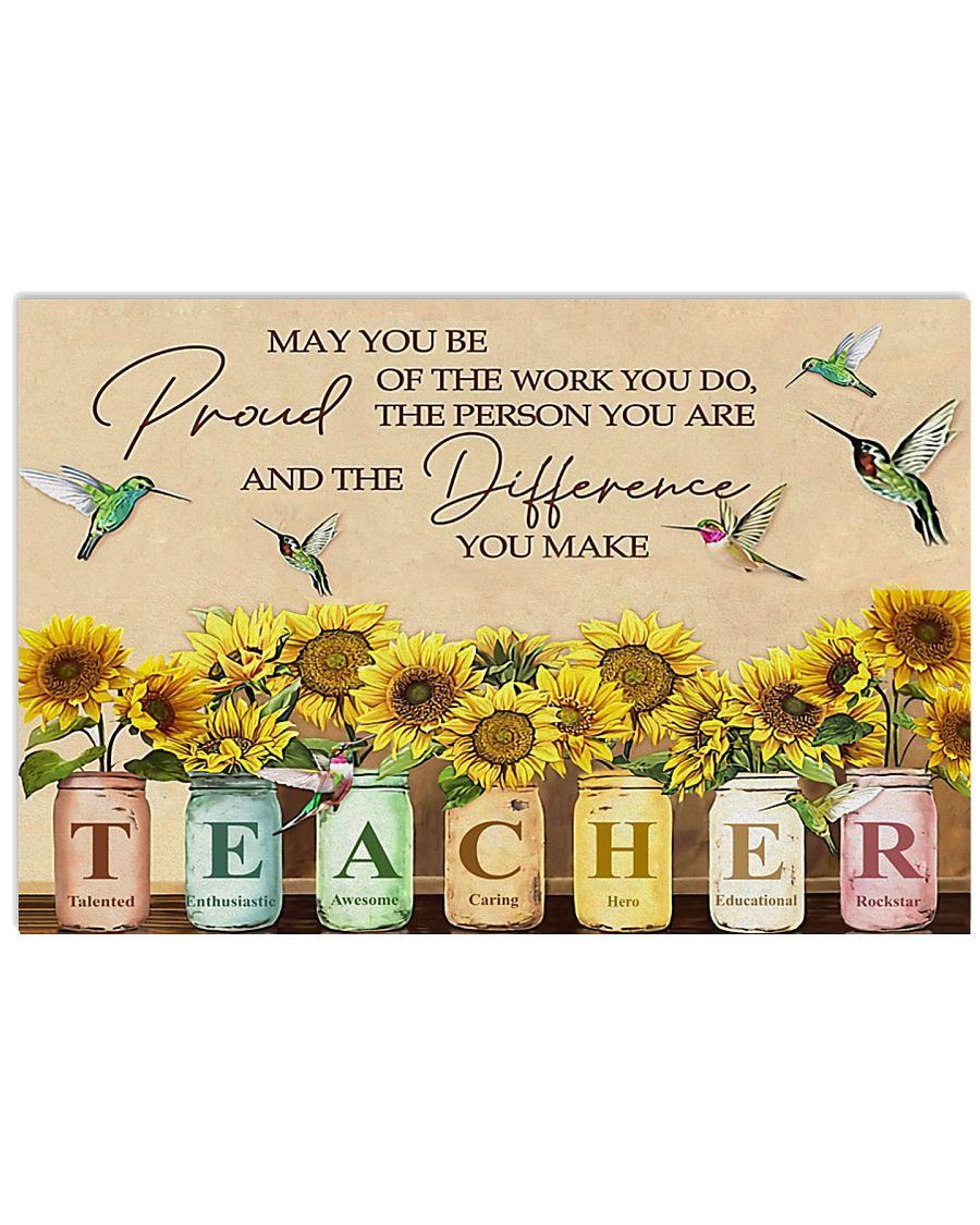 teacher 2 acronym sunflower 17x11 Poster