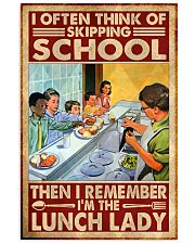 lunch lady skipping poster 11x17 Poster front