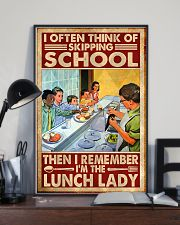 lunch lady skipping poster 11x17 Poster lifestyle-poster-2