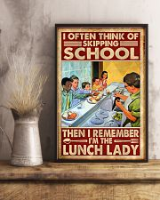 lunch lady skipping poster 11x17 Poster lifestyle-poster-3