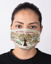 Librarian poster team succeed mas Cloth Face Mask - 3 Pack aos-face-mask-lifestyle-01