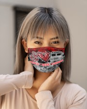 school bus driver peace love mas Cloth Face Mask - 3 Pack aos-face-mask-lifestyle-18