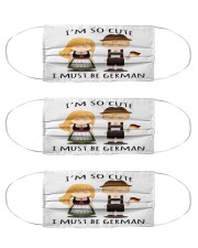 german cute must mas Cloth Face Mask - 3 Pack front