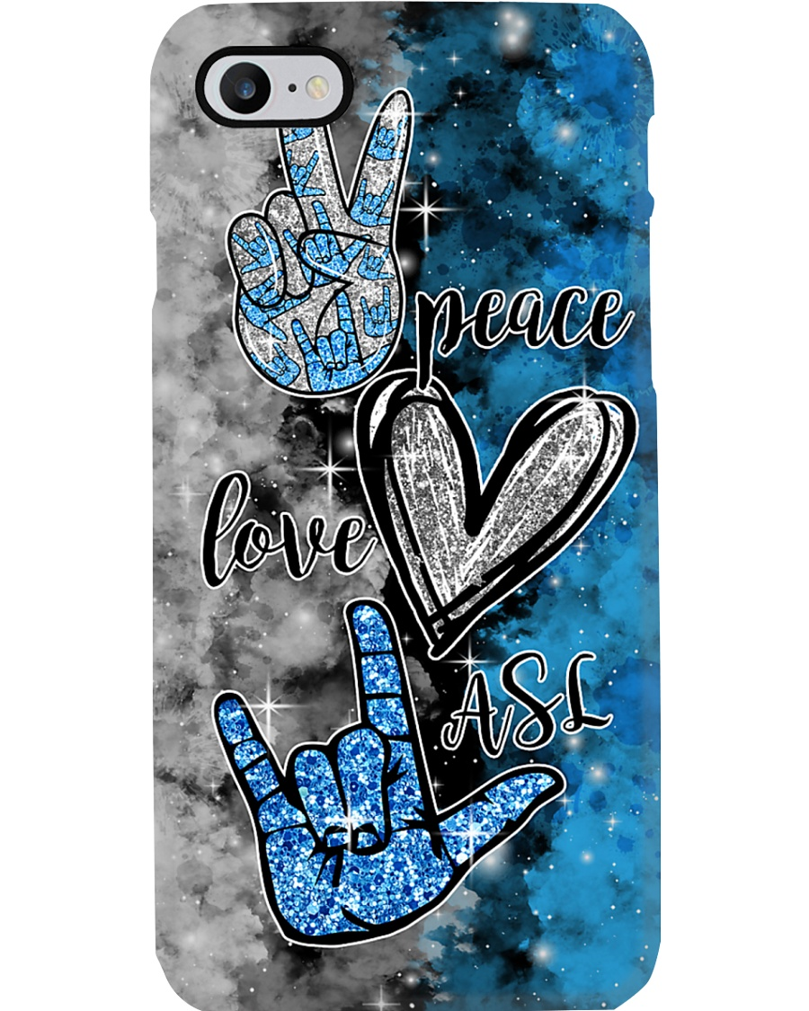 ASL peace love hope Phone Case