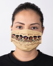 black girl god say mas Cloth Face Mask - 3 Pack aos-face-mask-lifestyle-01