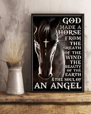 god made a horse from the breath pt lqt nna 11x17 Poster lifestyle-poster-3