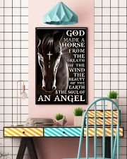 god made a horse from the breath pt lqt nna 11x17 Poster lifestyle-poster-6