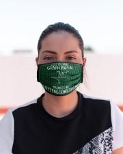 math teacher graph paper mas  Cloth Face Mask - 3 Pack aos-face-mask-lifestyle-03
