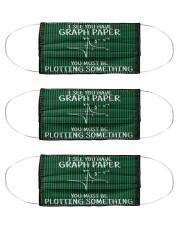 math teacher graph paper mas  Cloth Face Mask - 3 Pack front
