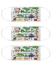brazil  map mas  Cloth Face Mask - 3 Pack front