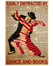 easily distracted books dance pt mttn ntv  11x17 Poster front