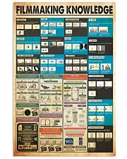 Filmmaking knowledge 24x36 Poster front