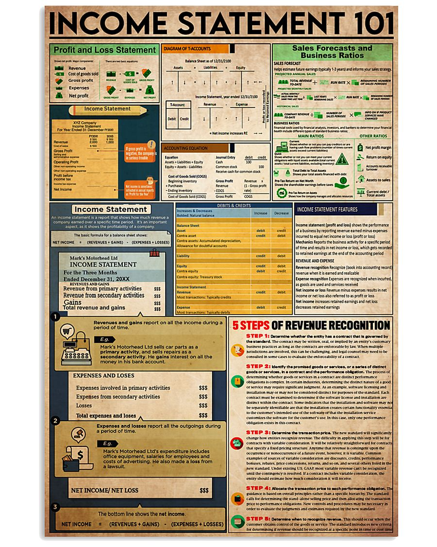 Accounting Statement 101 24x36 Poster