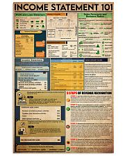 Accounting Statement 101 24x36 Poster front