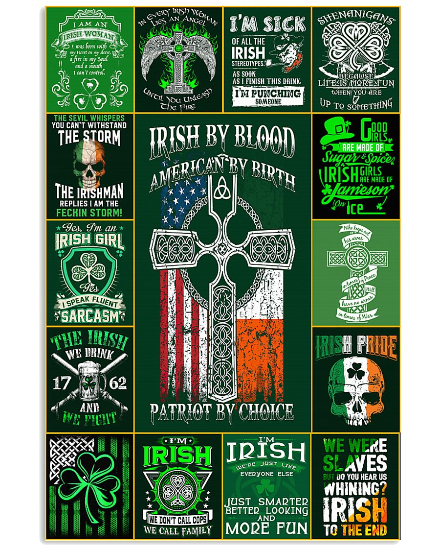 irish by blood poster 11x17 Poster