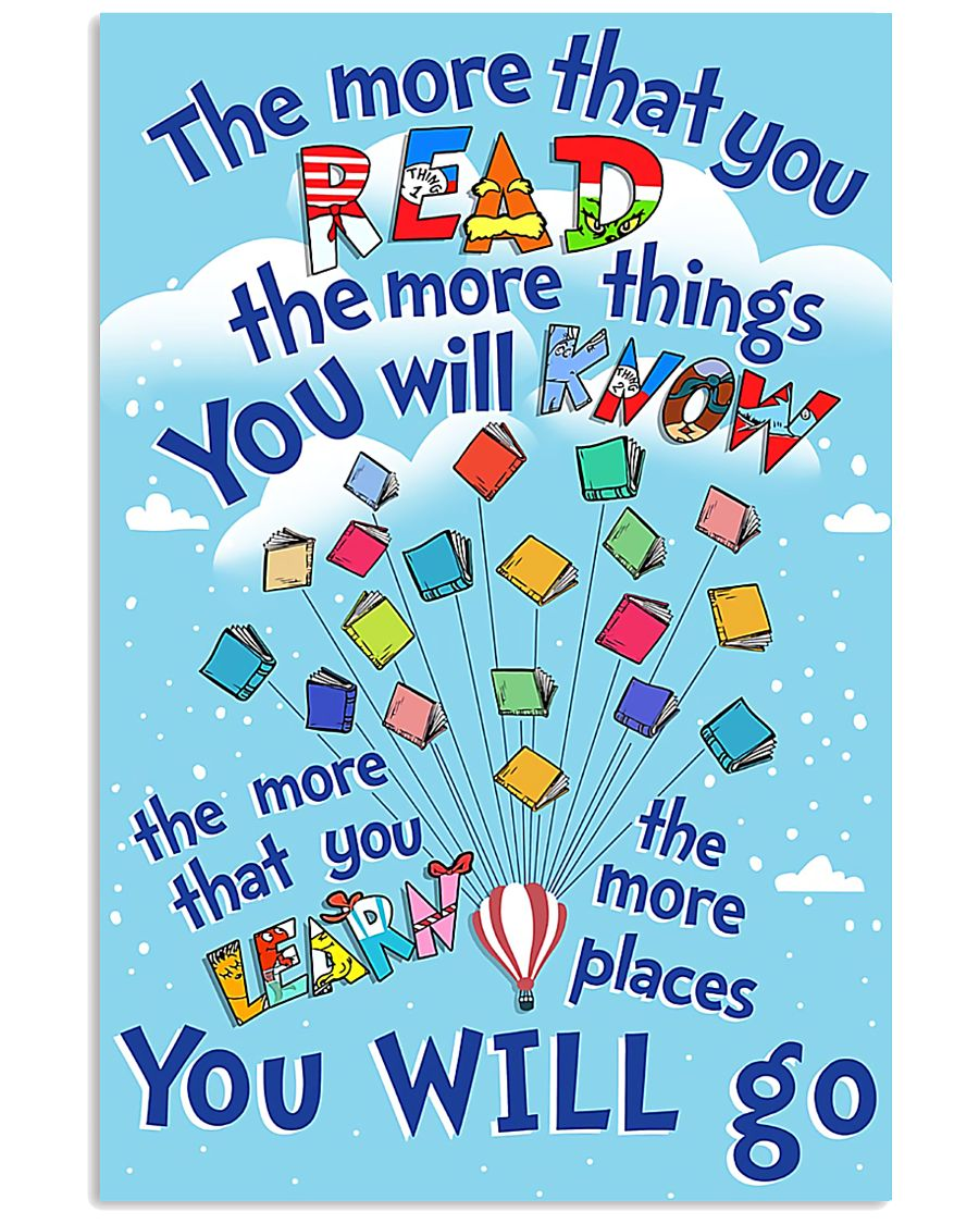 teacher the more that you read 11x17 Poster