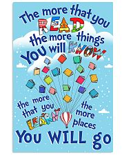 teacher the more that you read 11x17 Poster front