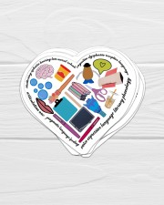 speech therapist heart sticker Sticker - 6 pack (Vertical) aos-sticker-6-pack-vertical-lifestyle-front-01