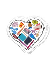 speech therapist heart sticker Sticker - 6 pack (Vertical) front