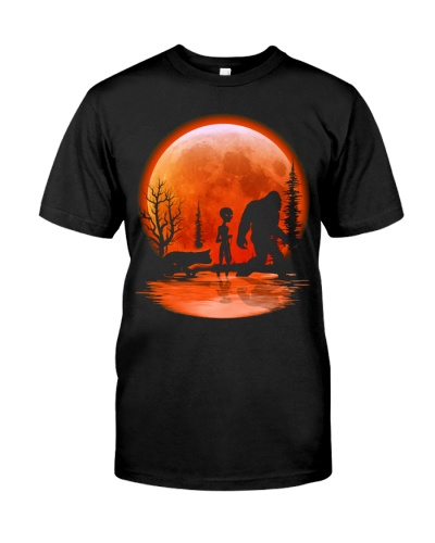 bigfoot alien dog red moon