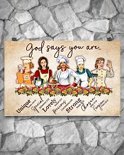 lunch lady god say you are poster 17x11 Poster poster-landscape-17x11-lifestyle-13