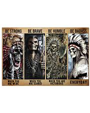 native american skeleton be strong brave humble pt 17x11 Poster front