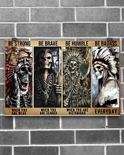 native american skeleton be strong brave humble pt 17x11 Poster poster-landscape-17x11-lifestyle-18