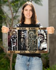 native american skeleton be strong brave humble pt 17x11 Poster poster-landscape-17x11-lifestyle-19