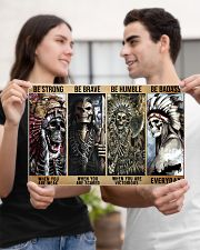 native american skeleton be strong brave humble pt 17x11 Poster poster-landscape-17x11-lifestyle-20