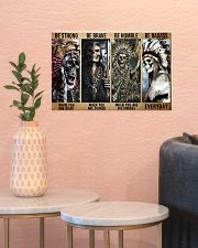 native american skeleton be strong brave humble pt 17x11 Poster poster-landscape-17x11-lifestyle-21