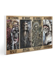 native american skeleton be strong brave humble pt 30x20 Gallery Wrapped Canvas Prints thumbnail