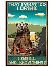 Bear BBQ Drink And Grill 11x17 Poster front