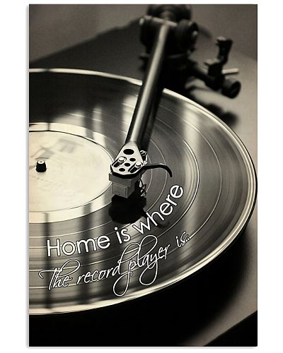 Record Player Home Black - White