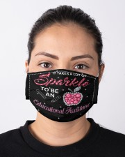 Educational Assistant sparkle mas  Cloth Face Mask - 3 Pack aos-face-mask-lifestyle-01