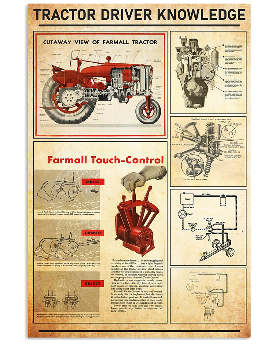 famer-tracter-red 11x17 Poster