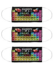 teacher element2 mas  Cloth Face Mask - 3 Pack front