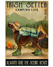 irish setter camping life 11x17 Poster front