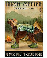 irish setter camping life 11x17 Poster front