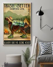 irish setter camping life 11x17 Poster lifestyle-poster-1