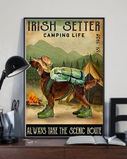 irish setter camping life 11x17 Poster lifestyle-poster-2