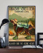 irish setter camping life 11x17 Poster lifestyle-poster-2