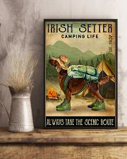 irish setter camping life 11x17 Poster lifestyle-poster-3